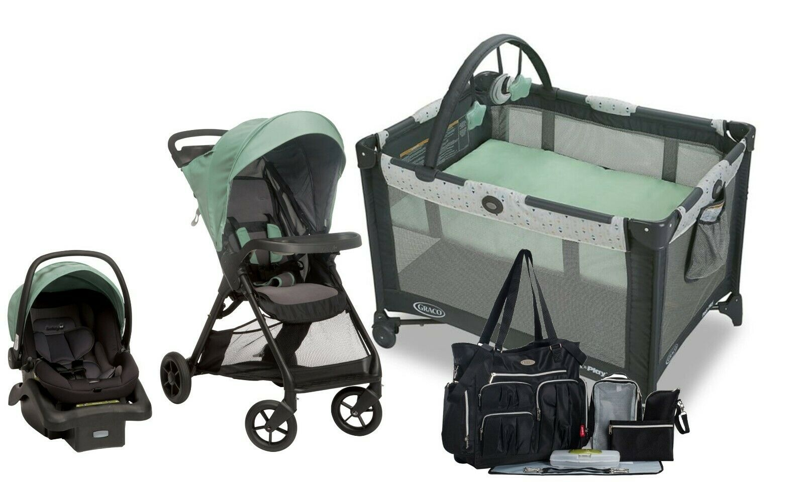 baby stroller with car seat diaper bag