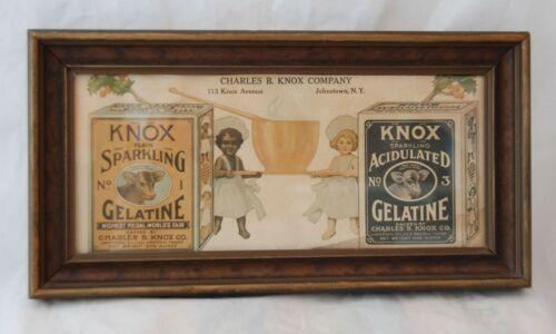 1900s Charles B. Knox Gelatine Dessert Ad Flier Johnstown, NY Black Americana