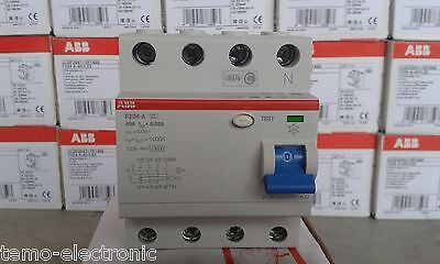 ABB Fehlerstrom-Schutzschalter F204A-40/0,03 / FI mit 40A 30mA 4-polig