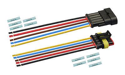 AMP Superseal Set Steckverbinder 5-polig H07V-K 1,50mm² Stecker Kabel Elektrik