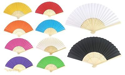 Paper Hand Fans Bamboo Chinese Folding Pocket Fan Wedding Party Favors (10 Pack) - Folding Hand Fans