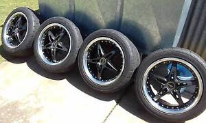4xpdw rims 235/45r17 Bridgestone potenzas re003 near new tyres Seaton Charles Sturt Area Preview