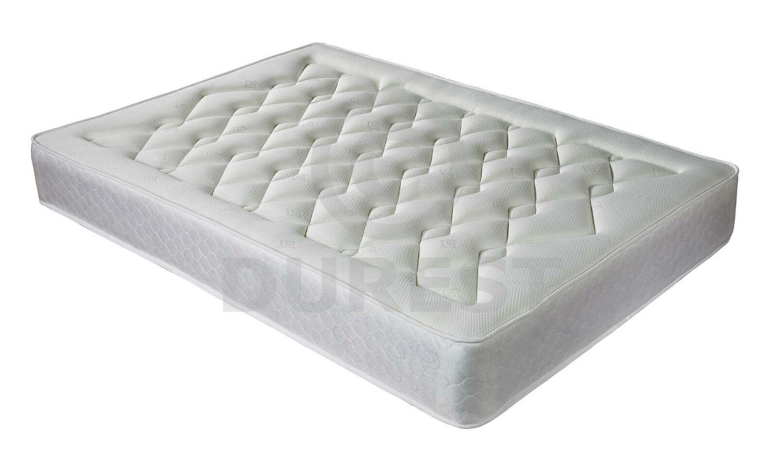 Luxury 1500 Pocket Spring Memory Foam Mattress 10 3ft Single 4ft6 Double 5ft
