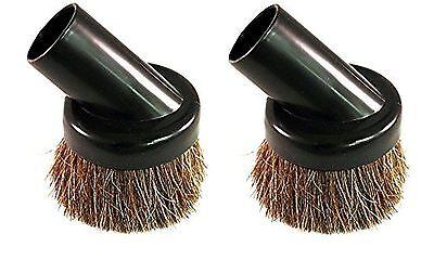 "2 Deluxe Universal Vacuum Dusting Dust Brush's Black 1 1/4"" Natural Bristle"