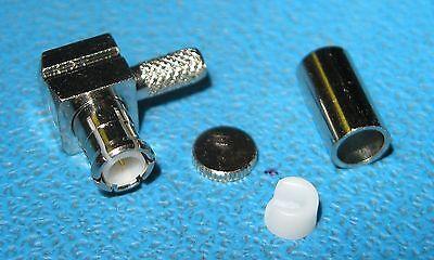 Rf Industries Rmx-8010-b1 Mcx Male Ra Crimp Plug For Rg-316rg-174 Cable Qty10