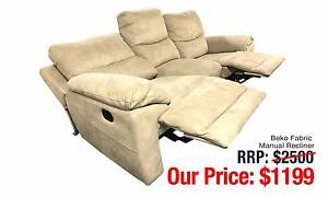 BEKO FABRIC MANUAL RECLINER THREE SEATER GORGEOUS STYLE Ultimo Inner Sydney Preview