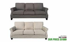MARY THREE SEATER SOFAS GORGEOUS STYLE AVAILABLE IN TWO TONES Granville Parramatta Area Preview