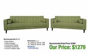 MICHELANGELO SET: THREE PLUS TWO SEATER DEAL Leumeah Campbelltown Area Preview