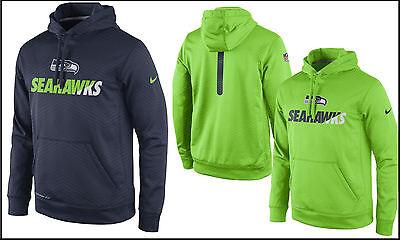 NWT$80 L~2XL~3XL Nike NFL OnField Seattle Seahawks Coaches Sideline KO Hoodie (Seahawks Nike Ko Hoodie)