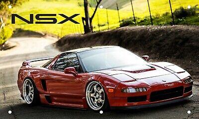 HONDA NSX FLAG BANNER WHITE RED 3X5FT ACURA SUPER CAR HONDA VTEC
