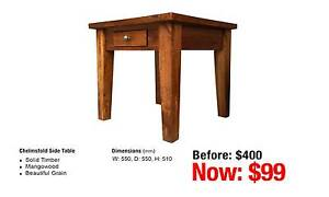 CHELMSFOLD SIDE TABLE MANGOWOOD Leumeah Campbelltown Area Preview