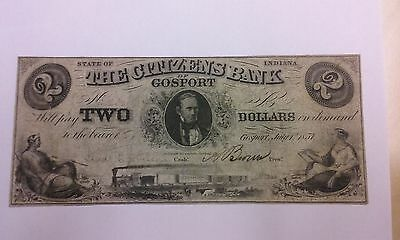 1857  2 The Citizens Bank Of Gosport Indiana