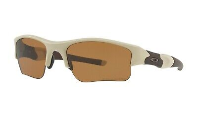 Oakley SI Flak Jacket XLJ POLARIZED Sunglasses 53-100 Desert Frame W/Bronze (Oakley Flak Jacket Xlj Polarized Sunglasses)