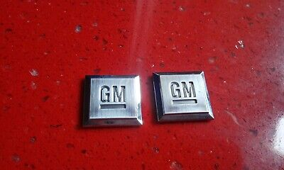 OEM USED GM Mark Of Excellence Emblem Chrome Pair Set Buick Cadillac Chevy GMC