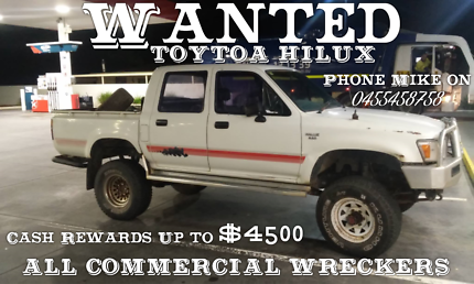 Wanted: Wanted: Toyota Hilux's - Cash Paid Up to $4500