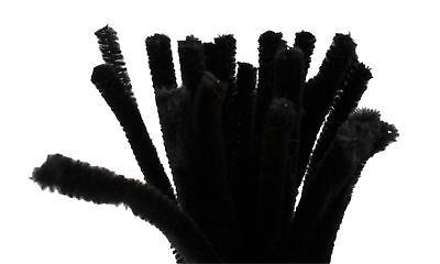 Schwarze Pfeifenreiniger (20 Draht Pfeifenreiniger  9 mm Länge 30cm CHENILLE, schwarz (0,12€/1Stk))