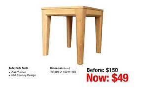 BAILEY SIDE TABLE OAK TIMBER Leumeah Campbelltown Area Preview
