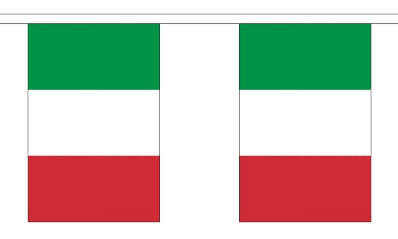ITALY BUNTING NATIONAL FLAG 9 metres 30 flags ITALIA