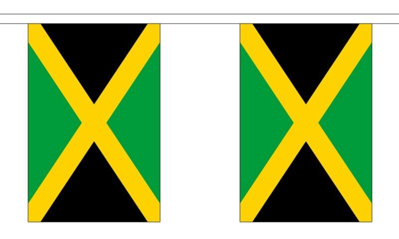 JAMAICA 3 METRE BUNTING 10 FLAGS flag 3M JAMAICAN CARIBBEAN KINGSTON