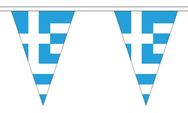GREECE 20 metre TRIANGLE BUNTING 30 FLAGS flag TRIANGULAR 54 FLAGS GREEK