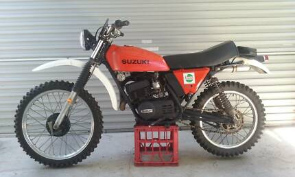 2 Vintage Suzuki TS 185 Trail Bikes..