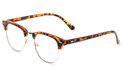 Klassisch Klarglas Brille Landschildkröte Flieger Retro Herren Damen Vintage