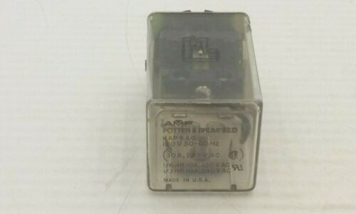 AMF POTTER & BRUMFIELD KAP5AG120 RELAY 8 PIN 10A 240VAC 120V