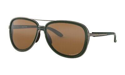 Oakley SPLIT TIME POLARIZED Sunglasses OO4129-0858 Forest W/ PRIZM Tungsten (Oakley Ladies Polarized Sunglasses)