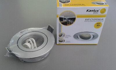 Einbaustrahler Evit CT-DTO50-AL - Einbaurahmen rund Deckenlampe Deckenleuchte