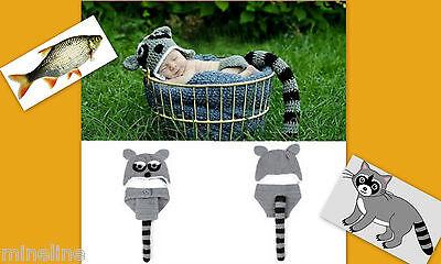 otoshooting Kostüm Kleine Waschbär grau 2Tlg. 0-6 Monate ★★★Nr.S (Baby Waschbär Kostüm)