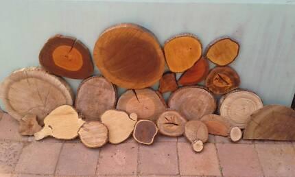 Log slices Wood slices Cake stands