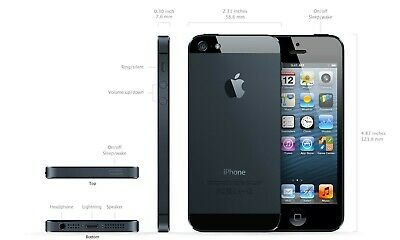 Apple iPhone 5 - 64GB - Black & Slate (Unlocked) A1428 (GSM) comprar usado  Enviando para Brazil