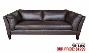 LEATHER SOFAS - up to 80% OFF RRP Granville Parramatta Area Preview