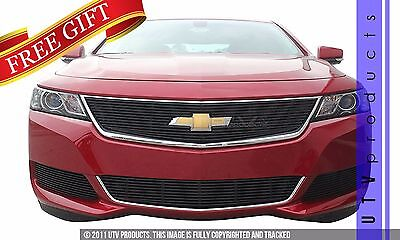 GTG 2014 - 2017 Chevy Impala 4PC Gloss Black Overlay Billet Grille Grill Kit