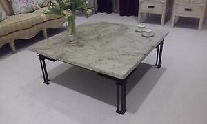 Large granite topped coffee table with metal base Hope Island Gold Coast North Preview