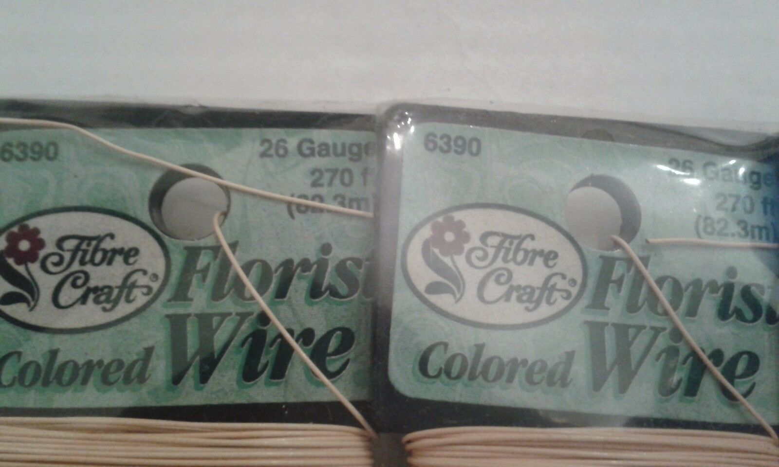 FIBRE CRAFT FLORIST WIRE 26 GAUGE 270ft #6390 COLORED PACK of 3 new ...