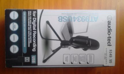 Audio-technica microphone usb boxed
