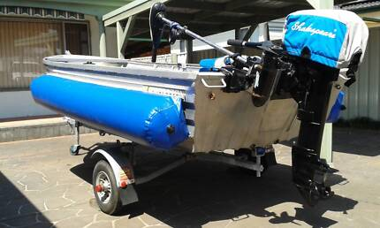 3.7m Horizon Pathfinder, 15hp Mercury Outboard, Fold up trailer Woy Woy Gosford Area Preview