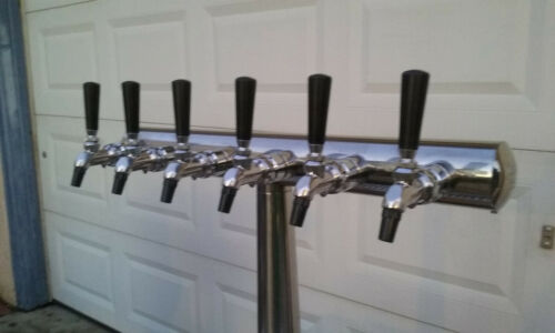 Celli Havana 6 valve Stainless  Beer Tower Dispenser Excellent Used W/ Drain!!
