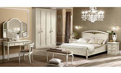 Italienische Möbel Holz (Klassisches Schlafzimmer Massivholz Holzfurnier Beige Italienische Stil Möbel)