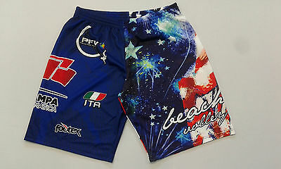 FOOTEX Pantaloncino Beach Volley AMERICA USA Made in Italy Col Blue/Bianco/Rosso