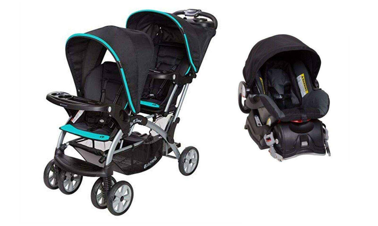 sit n stand double stroller one infant