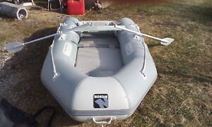 Nordik two person row boat with moter mount 500 obo