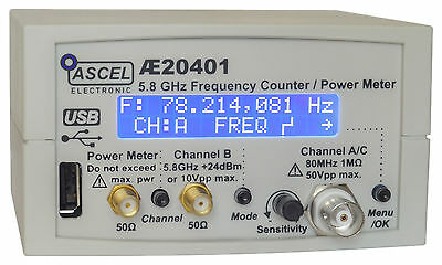 Ae20401 5.8 Ghz Frequency Counter Rf Power Meter Pulse Counter Kit With Usb