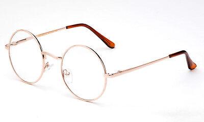 Neu John Lennon Rund Retro Metallrahmen Klar Gläser Brillen Hippies 70s 80s