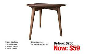 TRIDANT SIDE TABLE RUBBERWOOD Leumeah Campbelltown Area Preview