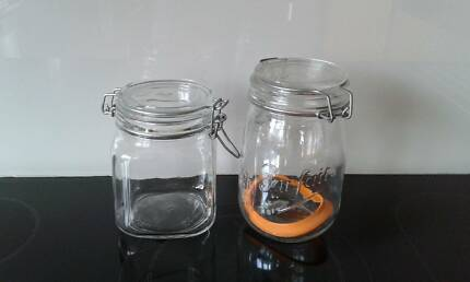 Authetic French and Italian Glass Jars Mosman Mosman Area Preview