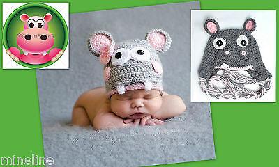★★★ NEU Baby Fotoshooting Kostüm Kleines Nilpferd Hippo 0-6 Monate ★★★X ()