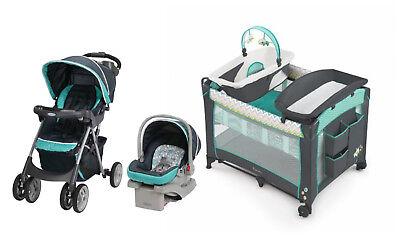 Baby Stroller Car Seat Play-yard Infant Bassinet Travel System Combo Set