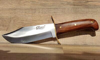 Coltello da caccia manico in legno palissandro lama acciaio larga+ custodia 2212